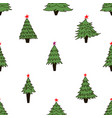 new year tree pattern vector image vector image