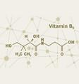 pantothenic acid formula vector image vector image