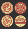pastel color vintage labels collection 9 vector image vector image