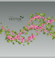 pink flying flowers vector image vector image