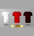 realistic v-neck t-shirt mock up vector image vector image