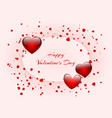 romantic leaflet with hearts vector image