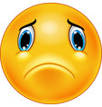 sad emoticon face vector image vector image