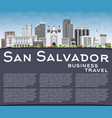 san salvador skyline with gray buildings blue sky vector image vector image