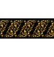 seamless vintage design element Floral border with vector image vector image