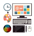 Set of colorful graphic web design icons vector image vector image