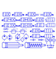 set of hydraulic symbols vector image