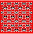 skulls red seamless pattern vector image