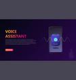 smart voice assistant concept vector image vector image