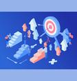 social media marketing strategy isometric vector image