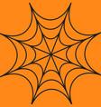 spider round web cobweb black decoration element vector image vector image