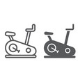 stationary bike line and glyph icon sport and vector image