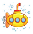 submarine with air bubbles vector image