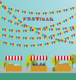 Tent on the market farm products wine and grapes vector image vector image