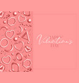valentines day greeting card decorated 3d coral vector image vector image