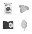 Western cinema tickets sweet cotton wool film vector image