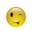 winking smiley face emoji icon vector image