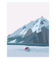 winter north mountain landscape simple flat vector image vector image