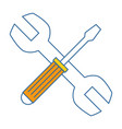 wrench and screwdriver tool isolated icon vector image