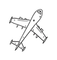 airplane hand drawn vector image