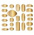 Labels set Gold frames Simple golden design vector image