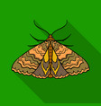 moth icon in flat style isolated on white vector image