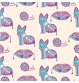 Abstract seamless pattern with cats vector image vector image