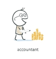 Accountant vector image vector image