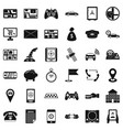 address icons set simple style vector image vector image