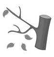 autumn tree icon monochrome vector image