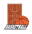 Ball and league of Basketball sport design vector image vector image