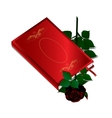 book and black rose vector image vector image
