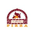 brick oven pizza vector image
