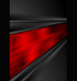 bright red and black glossy stripes abstract vector image vector image