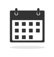 calendar icon in trendy flat style on white vector image vector image