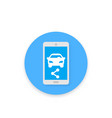 carsharing icon for apps and web vector image vector image