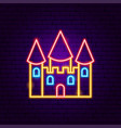 castle neon sign vector image