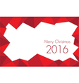 Christmas 2016 Rose red colored vector image vector image