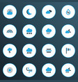climate icons colored set with wind moon breeze vector image