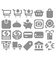 collection dotted icons finance and banking vector image vector image
