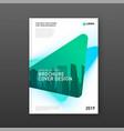 corporate brochure cover design template vector image