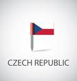 czech flag pin vector image vector image