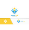 diamond and wifi logo combination jewelry vector image vector image