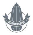 eco vegetarian food logo simple style vector image