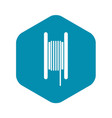 Electric cable in coil icon simple style