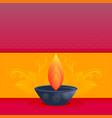 elegant diwali festival greeting card design with vector image vector image
