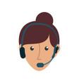 face woman call center vector image