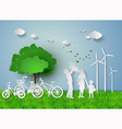 family eco vector image vector image
