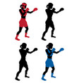 female boxer boxing vector image