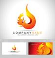 Fire Flame Logo vector image vector image